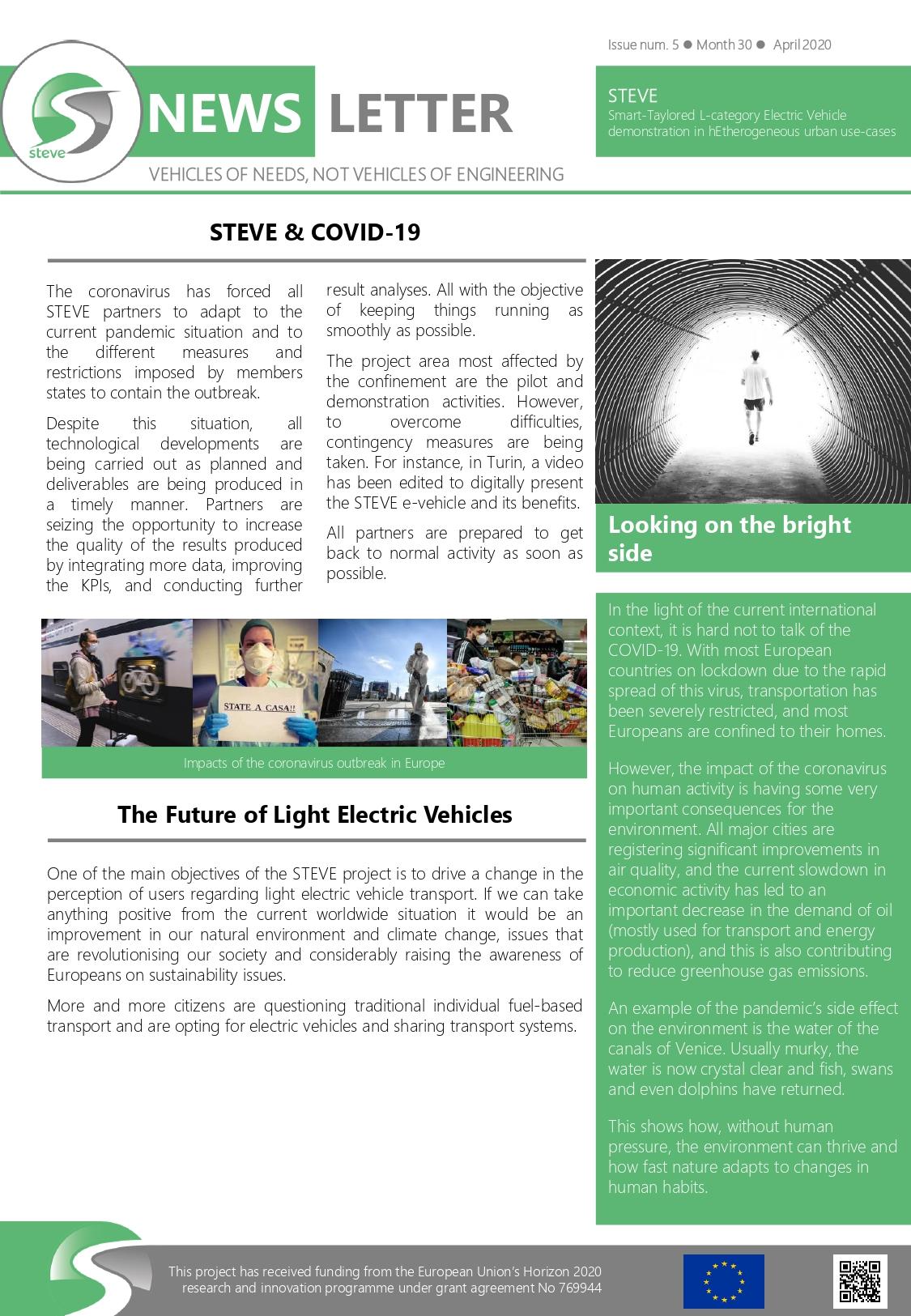 Fifth STEVE Newsletter