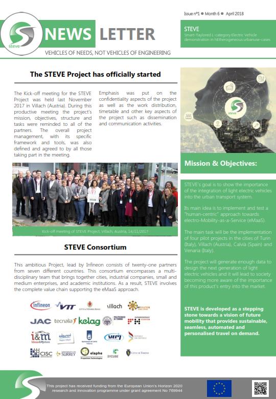 First STEVE Newsletter