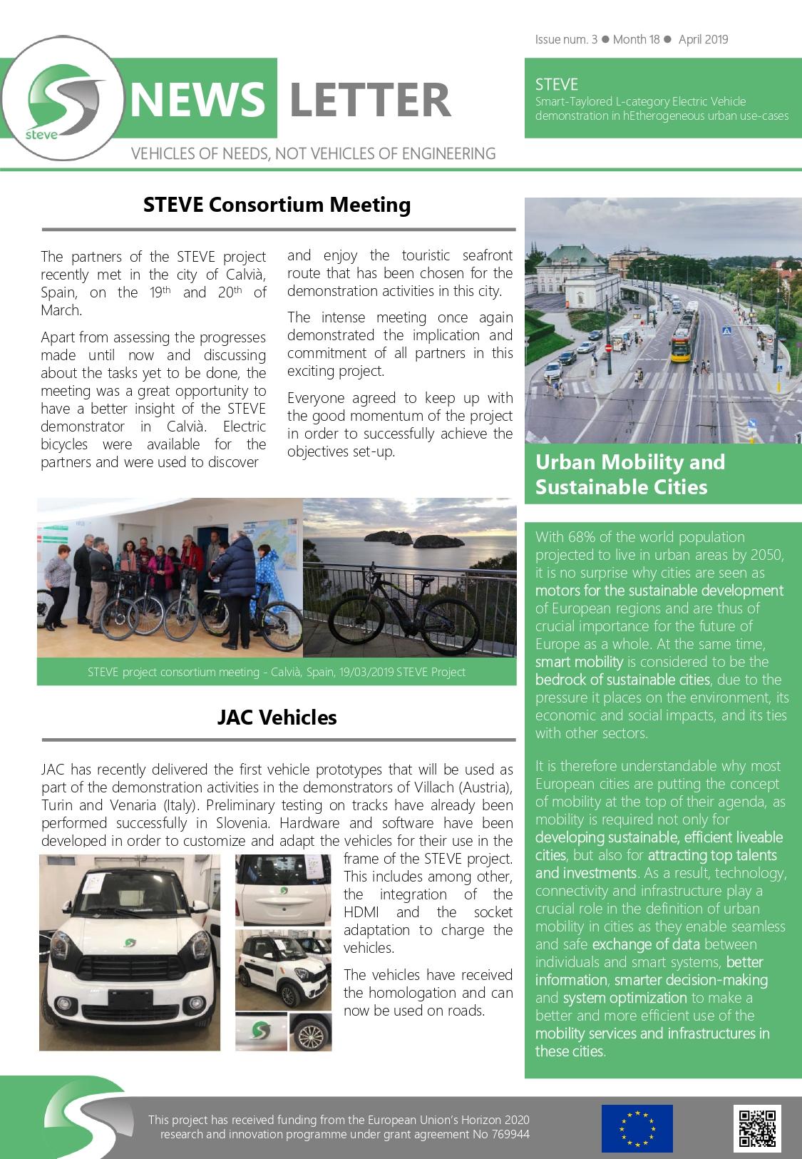 Third STEVE Newsletter