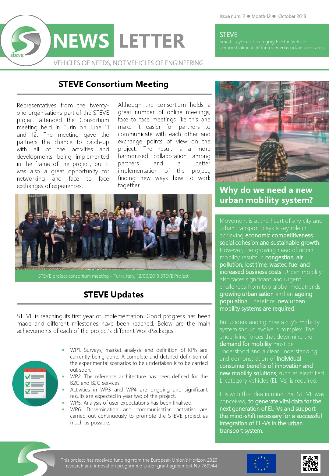 Second STEVE Newsletter