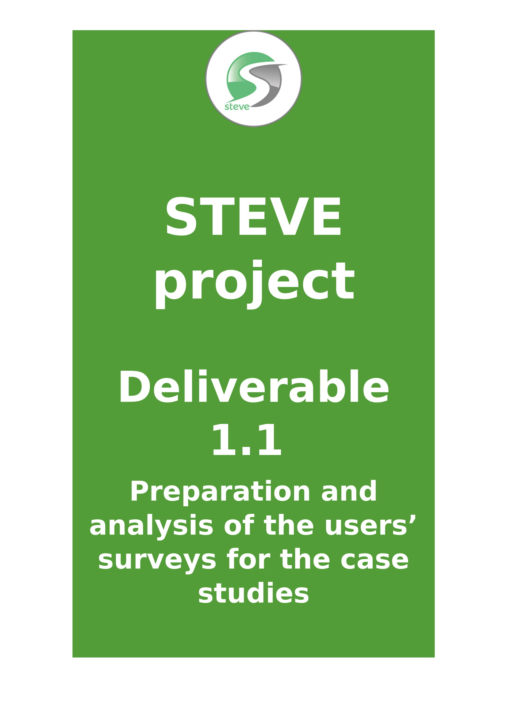 Deliverable 1.1