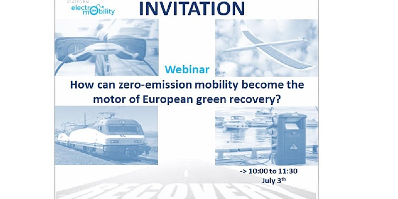 How can zero-emission mobility become the motor of European green recovery?